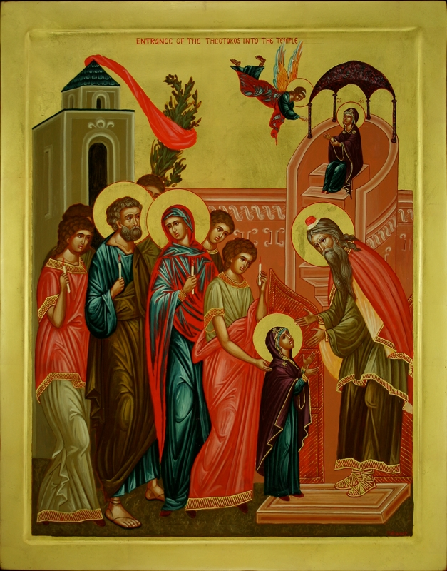 Image result for icon feast of the entrance of theotokos