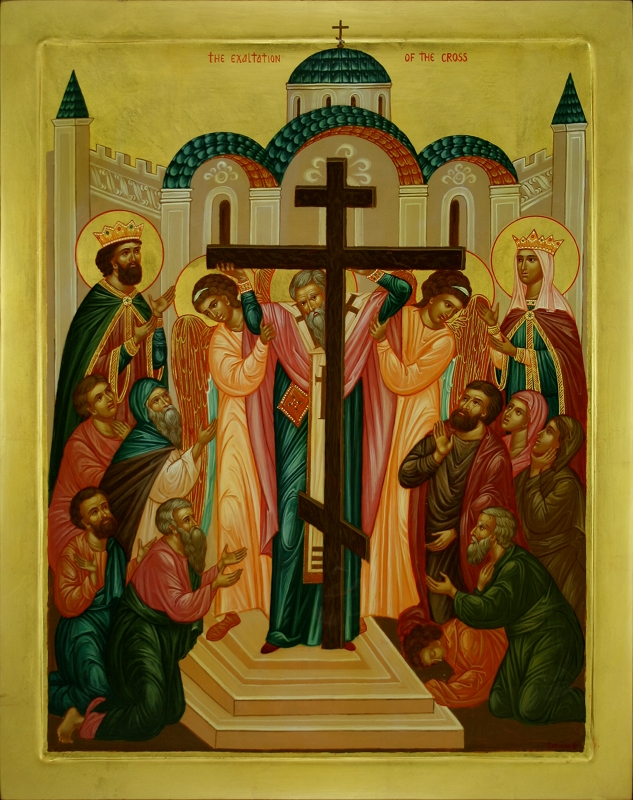 Image result for elevation of the cross icon